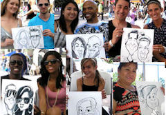 Fred Eyer party caricatures link